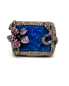 Flower and Serpent Opal Ring by Wendy Yue
