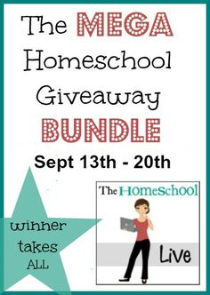 Hurry and enter the MEGA Homeschool Giveaway! One winner gets to enjoy 17 products!