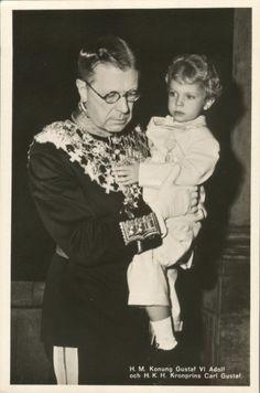 Gustaf VI Adolf (Oscar Fredrik Wilhelm Olaf Gustaf Adolf; 11 November 1882 – 15 September 1973) was King of Sweden from 29 October 1950 until his death. He was the eldest son of King Gustaf V and h…