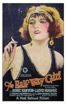 1925 The Half Way Girl  ART & ARTISTS: Film Posters 1913 - 1929
