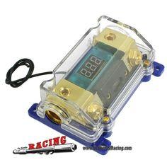 14,54€ - ENVÍO SIEMPRE GRATUITO - Caja Portafusibles 100A con 1 Entrada 1 Salida con Voltímetro Para Sistemas Audio Amplificador Coche - TUTIENDARACING