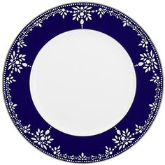 Marchesa By Lenox EMPIRE PEARL-INDIGO Dinnerware is part of the collections of Marchesa, created exclusively for Lenox; unique dinnerware and flatware patterns by Marchesa and other America's top designers. Pottery Painting Designs, Pottery Designs, Paint Designs, Molduras Vintage, Navy Blue Decor, Blue Dishes, Background Design Vector, Wedding Invitation Inspiration, China Painting