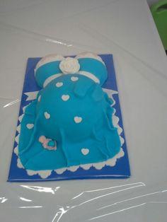 Babybuik blauw hart