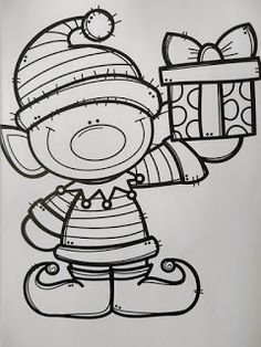Christmas Cards Drawing, Diy Christmas Cards, Christmas Colors, Christmas Art, Christmas Projects, Christmas Decorations, Christmas Coloring Sheets, Scrapbook Examples, Preschool Coloring Pages