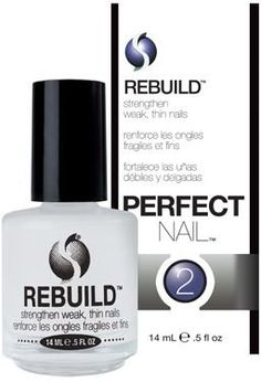 Recommended nail strengthener when your nails are a mess from medication side effects, etc. -- Seche REBUILD: Beauty (read blog about it)