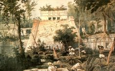 Main temple at Tulum, by Catherwood