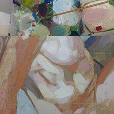 A detail of an acrylic painting in progress of a female nude. Painting Process, Nude, Female, Detail, Art, Art Background, Kunst, Performing Arts, Art Education Resources