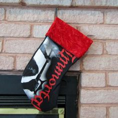 Immortal Christmas Stocking DIY Black Metal Christmas A1a by DarkStormDesign on Etsy