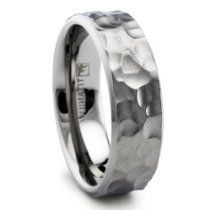 Titanium Wedding Ring Mens, Womens Titanium Hammered Matte Finish Wedding Band Ring with cable This elegant Titanium band is simply beautiful. This stunning band - Gold Simple Engagement Ring, Quartz Engagement Ring, Engagement Rings, Titanium Rings For Men, Titanium Wedding Rings, Wedding Ring Bands, Bridal Rings, Hunting Wedding Rings, Wedding Rings For Women