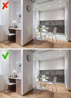 10 Space-Saving Ideas That Can Transform Your Small Apartment - Decor - Small Apartment Interior, Small Apartment Kitchen, Small Apartment Decorating, Apartment Interior Design, Studio Apartment Layout, Small Apartment Design, Small Condo Living, Studio Apartment Living, Studio Living