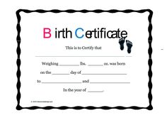 cute looking birth certificate template birth certificate template can be sourced from many places