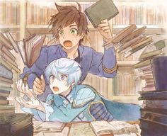 Zestiria - Sorey and Mikleo. Please appreciate their expressions