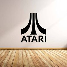 Vinyl Wall Word Decal  Atari Logo Decal  Home Decor  Wall