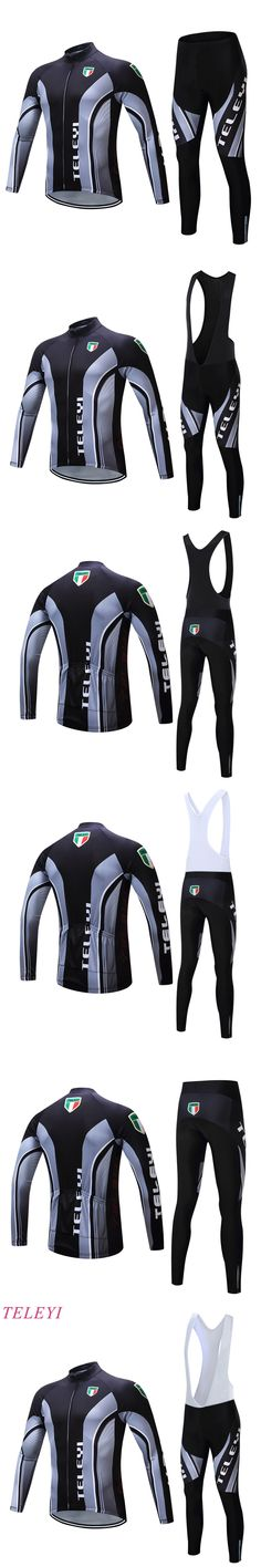 2016 Hot Sale Men's Sportswear Spring Autumn Pro Cycling Clothing Ciclismo Motocross Bike Jersey Long Sleeve Mtb Shirt +Gel Pad