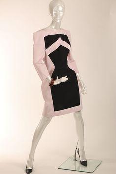 Rare MARIMEKKO Pink Black Abstract Print Dress M L