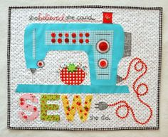 """""""Sew She Did"""" pattern by Lori Holt of Bee in my Bonnet"""
