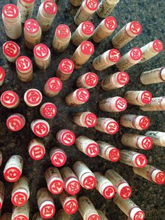 Wine Pull Event: Used wooden bingo numbers and glued in corks. Numbers were purchased at Hobby Lobby