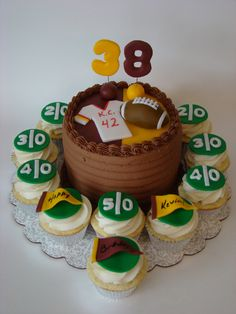 Redskins Cake and Cupcakes