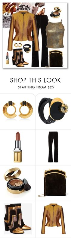 """Nasty Gal Block It Out Leather Boot Look"" by romaboots-1 ❤ liked on Polyvore featuring Marni, Elizabeth Arden, Raey, The Row, Nasty Gal, Richmond X and Pilot"