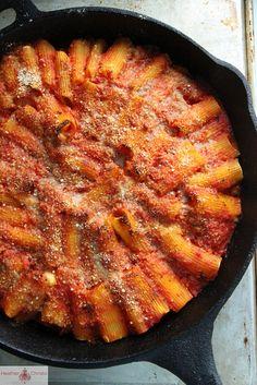 skillet baked stuffed rigatoni   recipe