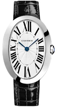 Cartier W8000001 Baignoire Large - швейцарские женские часы наручные, золотые, белые