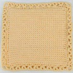 Crochet Hot Pads and Trivets with These Free Patterns: Pretty Crocheted Hot Pad or Potholder