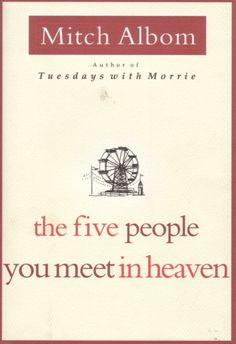 The Five People You Meet in Heaven by Mitch Albom was…a very touching read. Eddie at age 83 suddenly gets into a carnival ride accident and enters Heaven, recieving an introduction from five people that were interconnected with his life. Albom's first book, it was nice to be reminded how precious life is. A fantastic read recommended for everyone to read.