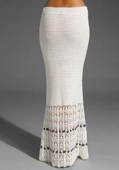 Crochetemoda: Saia Longa de Crochet