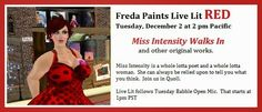 Freda Paints Live Lit RED Tuesday at 2 pm Pacific