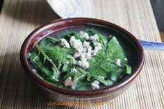 Minced Pork with Asia Spinach Soup (Canh Thịt Nạc Xay Rau Mồng Tơi) from http://www.vietnamesefood.com.vn/vietnamese-recipes/vietnamese-soup-recipes/minced-pork-with-asia-spinach-soup-canh-thit-nac-xay-rau-mong-toi.html