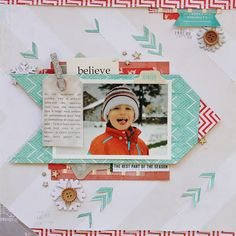 Crate Paper Sleigh Ride--photo of HN in the snow idea.