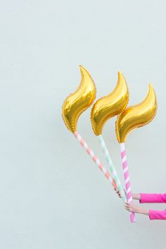 How cute are these birthday candle balloons?