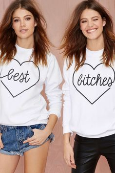 Best Bitches Sweatshirt Set//