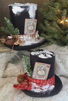 Magic Hat - Primitive Snowman Hat PATTERN - CF907