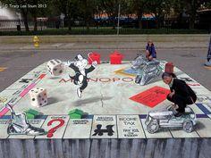 3D Monopoly Art - Amazing 3D Street Art, http://hative.com/amazing-3d-street-art/,