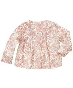 Pink Poplar Print Baby Blouse, Liberty London Children's. Shop more tops from the latest Liberty London Children's collection online at Liberty.co.uk