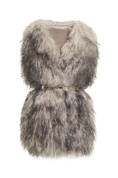 PINGHE chose the finest materials to craft this luxurious mongolian wool vest, a layering piece layering piece for fall to winter. Features chunky wool back panel and a front center clasp and comes with a logo gold belt. #fashion #style #vest #fall