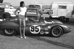 You are at a car race at Riverside, California and you are trying to get a good photo of Carroll Shelby's Cooper Monaco King Cobra. Just as you are about to take the picture a B-list actress by the name of Edy Williams steps into the frame. What's a fellow to do??? ;-))