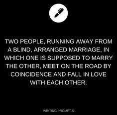 Writing prompt Arranged marriage