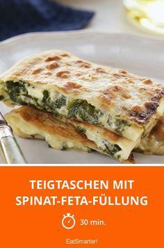 Teigtaschen mit Spinat-Feta-Füllung - smarter - Zeit: 30 Min. | eatsmarter.de