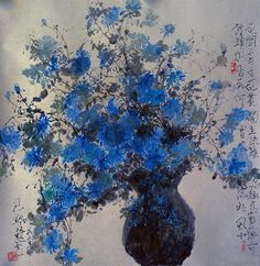 I can never come up with what to say so here are some words that I love from Leonard Cohen:ring the bells that still can ringforget your perfect offering- there is a crack in everything that's how the light gets in ~leonard. Chinese Painting, Chinese Art, Chinese Brush, Korean Art, Asian Art, Japanese Art, Art Forms, New Art, Flower Art