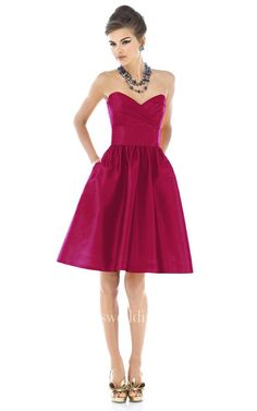#Valentines #AdoreWe #Dorris Wedding - #Dorris Wedding Lovely Sweetheart Satin Dress With Pockets - AdoreWe.com