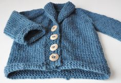 Mr Sofisticated - a knitted cardigan for a little baby boy