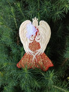 Lace Bookmark ..Angel of Peace...can be made to order - FREE SHIPPING. $5.00, via Etsy.