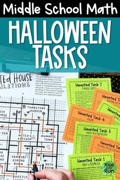 The Haunted House Calculations are the perfect spooky activity for 6th, 7th, Halloween Math Worksheets, Fun Halloween Activities, Fun Math Activities, Math Resources, Math 5, Extra Credit, Early Finishers, School Subjects, Math Concepts