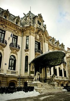 A gem of Neo-Baroque architecture, George Enescu National Museum in Bucharest, Romania