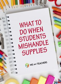 Are they chewing up your pencils and breaking your crayons? Here are some ideas to help classroom teachers.