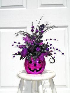 Halloween Decor / Halloween Floral by englishrosedesignsoh on Etsy, $62.00