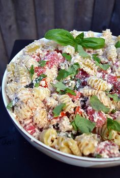 Pasta with Tomatoes, Ricotta and Fresh Herbs - Awesome with Diced up Avocado