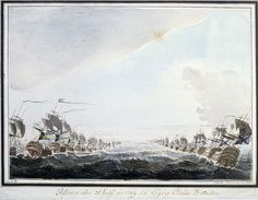 Swedish and Russian navies before a battle in July 1789, Öland, Sweden, via Flickr.